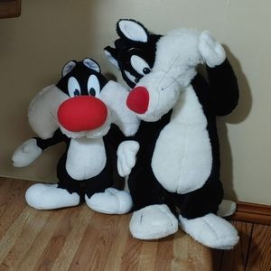 Sylvester and Junior Stuffed Animals